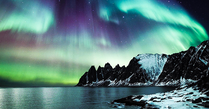 Auroras occur throughout the year, however you need dark skies to see them.