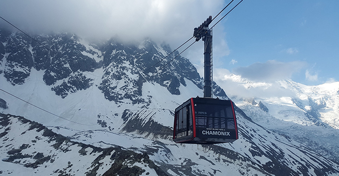 """This unreal location at the very """"top of Europe"""" offers visitors a perfect view and an unforgettable ride on the legendary cable car from Chamonix."""