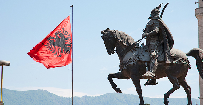 "© ""Skanderbeg"" by Thomas Quine, licensed under CC BY 2.0 (https://www.flickr.com/photos/quinet/6850112411)"