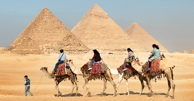 The best time to visit Egypt from October to April because of the most pleasant temperatures.