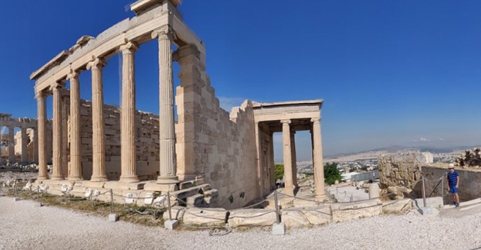 The former Greek temple with no tourists in sight