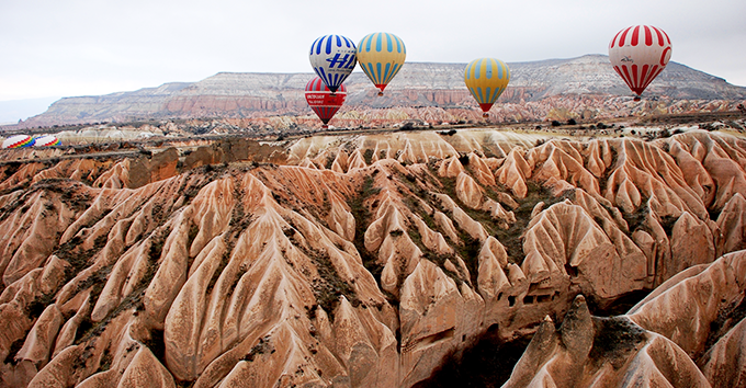 The unusual and bizarre landscape of Cappadocia is what makes this place so magical.